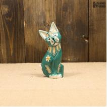 Кошка зеленая (12см)