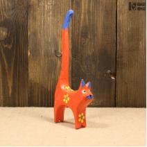 Кошка с длинным хвостом (20см) красная