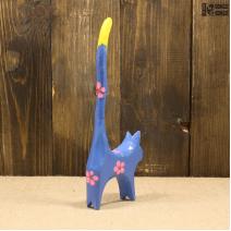 Кошка с длинным хвостом (20см) синяя
