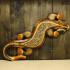 Панно «Геккон» (50см) широкое с камушками