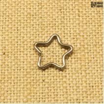 Кольцо Звезда титан (1.2ММ * 10ММ)  | цена за 1шт.