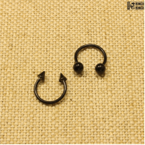 Циркуляр черный (1.2мм * 10мм)  |  Конусы | Шарики | Кастом | цена за 1 шт.