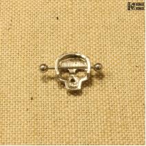 Штанга с украшением «череп»  | цена за 1шт.
