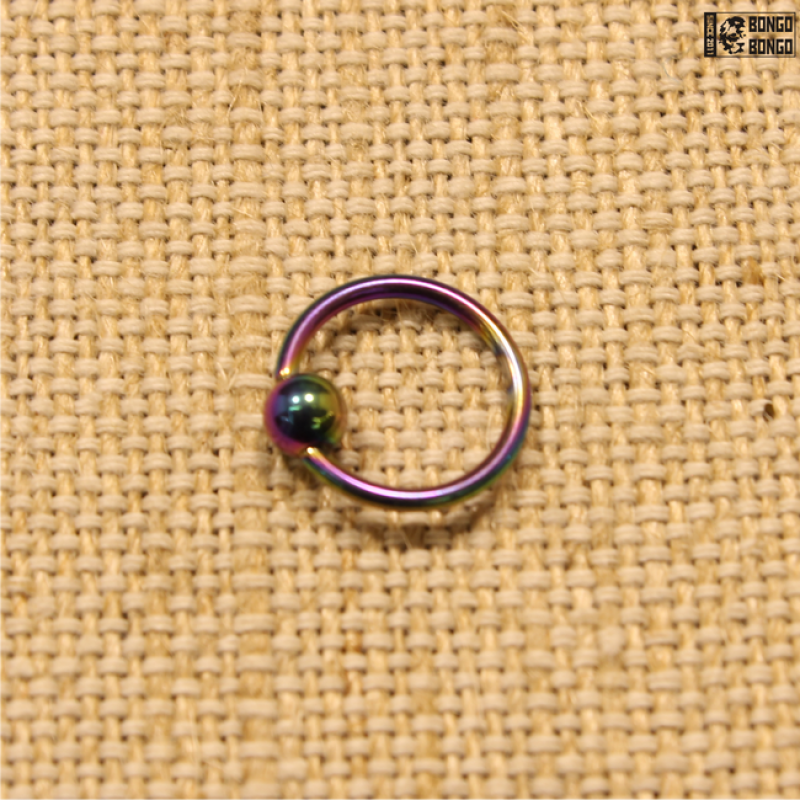 Кольцо радужное (1.2мм * 10мм)   1шт.