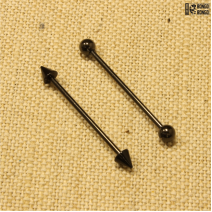 Штанга индастриал чёрная (1.6мм * 32мм)  |  Конусы | Шарики | Кастом | цена за 1шт.