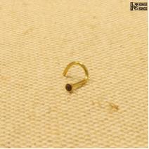 Улитка золотистая  (0.8мм)  |  Изумрудный страз | цена за 1шт.