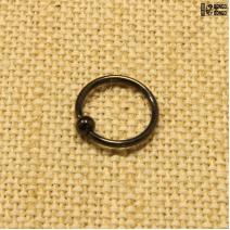 Кольцо с шариком черное (1,2*10мм)   цена за 1шт.