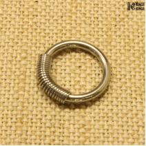 Кольцо с пружиной 15мм   цена за 1шт.