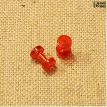 Тоннели из акрила (красные)  2мм | 1шт.