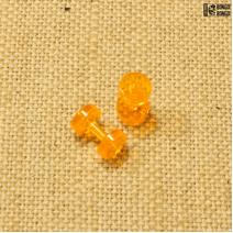 Тоннели из акрила (оранжевые)  2мм | 1шт.