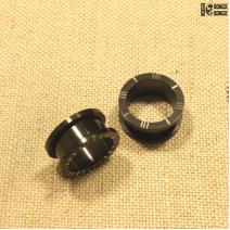 Тоннели из металла с насечками  (черные)  18мм | цена за 1шт.