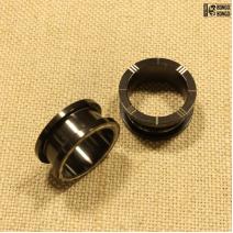 Тоннели из металла с насечками  (черные)  20мм | цена за 1шт.