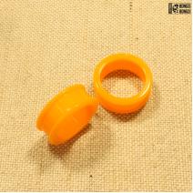 Тоннели силиконовые оранжевые 24мм | цена за 1шт.