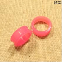 Тоннели силиконовые розовые 26мм  | 1шт.