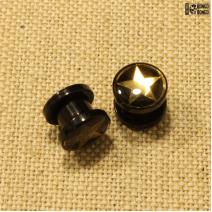 Плаги из акрила (золотая звезда)  8мм | цена за 1шт.