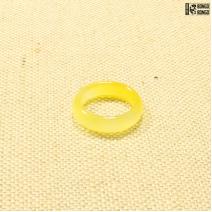 Кольцо из камня салатовое