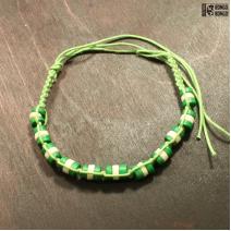 Фенечка зелено-белая