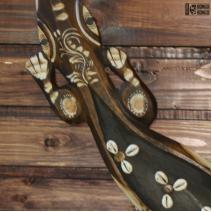 Панно «Геккон» (100см) ракушки #1