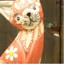 Кошка розовая (10см)